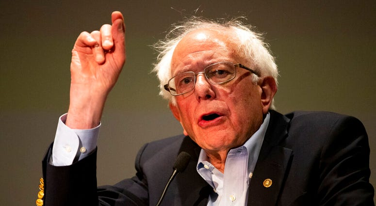 Presidential candidate and U.S. Senator Bernie Sanders (I-VT) speaks to a gathering of the Pennsylvania Association of Staff Nurses and Allied Professionals.  (Christopher Dolan/Times-Tribune via AP)
