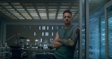 Hawkeye/Clint Barton (Jeremy Renner) in a scene from Marvel Studios' Avengers: Endgame.  (Film Frame/Marvel Studios 2019 via AP)