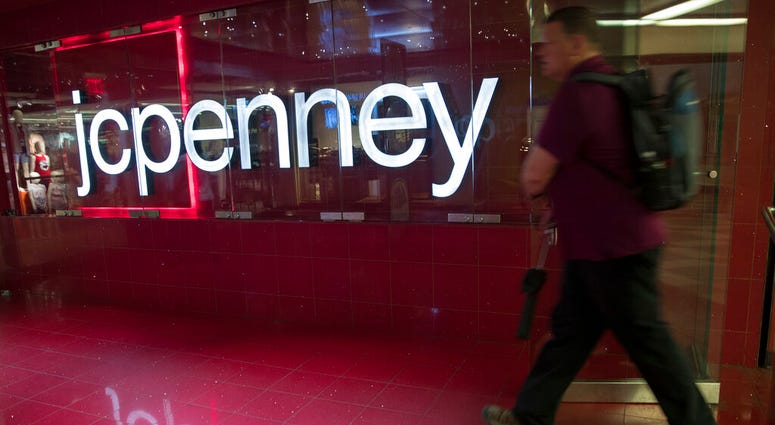 FILE - In this May 16, 2018 file photo, a man enters the JC Penney store at the Manhattan mall in New York. (AP Photo/Mary Altaffer, File)