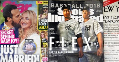 An issue of Sports Illustrated is displayed on a newsstand, Tuesday, May 28, 2019 in New York.  (AP Photo/Mark Lennihan)