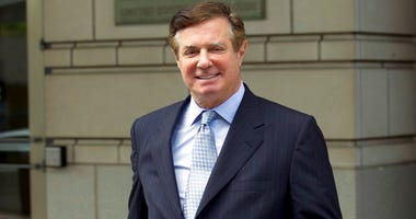 FILE - In this May 23, 2018, file photo, Paul Manafort, President Donald Trump's former campaign chairman, leaves the Federal District Court after a hearing in Washington.  (AP Photo/Jose Luis Magana, File)