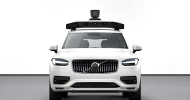 The ride-hailing company said Wednesday, June 12, 2019, that it can easily install its self-driving system in the Volvo XC90 SUV. (Volvo Cars via AP)