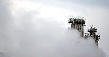 FILE - This Jan. 15, 2011 file photo, shows a part of Arak heavy water nuclear facilities, near the central city of Arak, 150 miles (250 kilometers) southwest of the capital Tehran, Iran.  (Mehdi Marizad/Fars News Agency via AP, File)