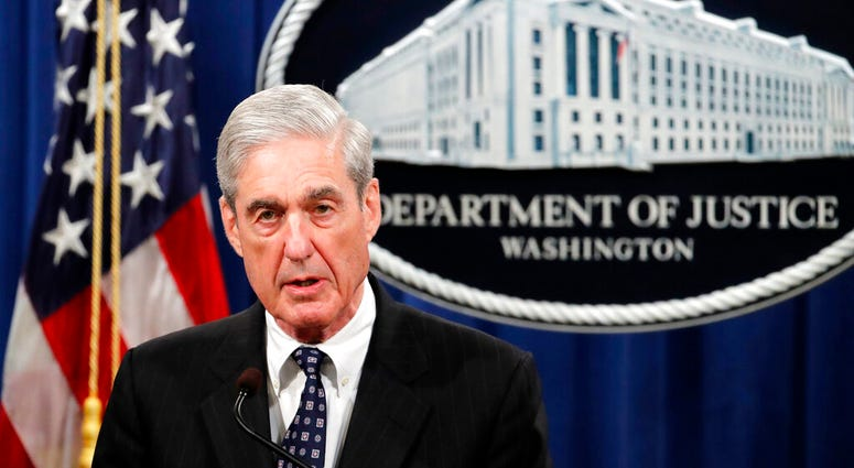 Special counsel Robert Mueller speaks at the Department of Justice in Washington, about the Russia investigation.  (AP Photo/Carolyn Kaster, File)