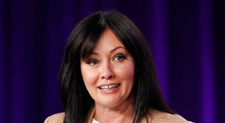 """, Shannen Doherty participates in a panel for the television show """"Shannen Says"""" on WE tv during the AMC Networks portion of the Television Critics Association Winter Press Tour in Pasadena, Calif.  (AP Photo/Danny Moloshok, File)"""