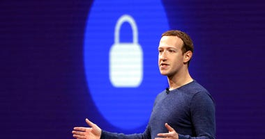 FILE - In this May 1, 2018, file photo, Facebook CEO Mark Zuckerberg delivers the keynote speech at F8, Facebook's developer conference, in San Jose, Calif. (AP Photo/Marcio Jose Sanchez, File)
