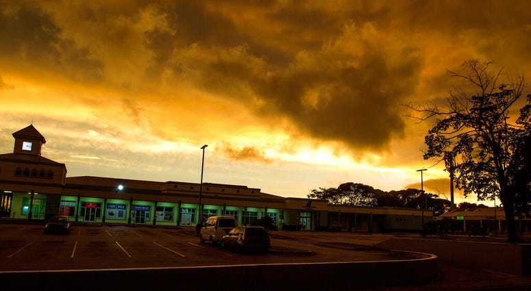 Storm clouds gather as Tropical Storm Dorian moves toward St. Michael Parish, Barbados, Monday, Aug. 26, 2019.  (AP Photo/Chris Brandis)