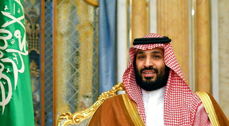 FILE - In this Sept. 18, 2019, file photo, Saudi Arabia's Crown Prince Mohammed bin Salman attends a meeting with U.S. Secretary of State Mike Pompeo in Jeddah, Saudi Arabia. (Mandel Ngan/Pool Photo via AP, File)