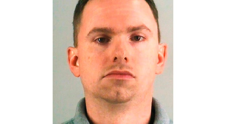 This undated photo provided by the Tarrant County Jail shows Aaron Dean. The Fort Worth police officer who shot and killed a black woman.  (AP Photo/Manuel Balce Ceneta)