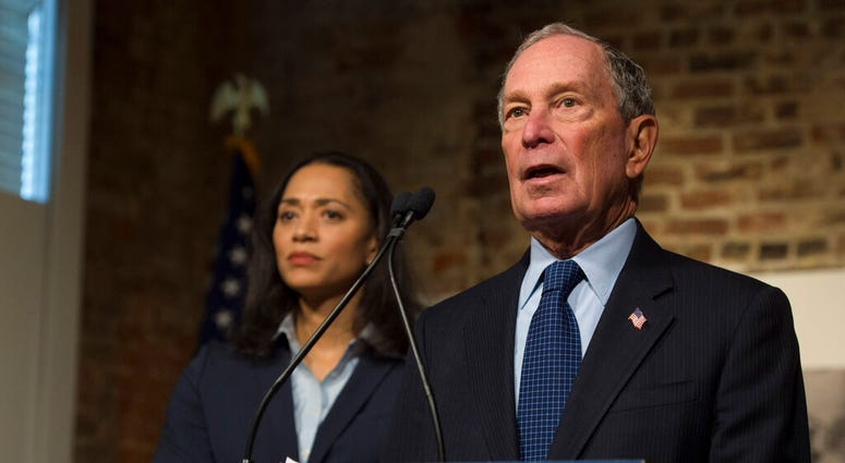 Democratic presidential candidate and former New York City Mayor Michael Bloomberg participates in a roundtable on criminal justice reform, Tuesday, Dec. 2, 2019, in Jackson, Miss. (Sarah Warnock/The Clarion-Ledger via AP)