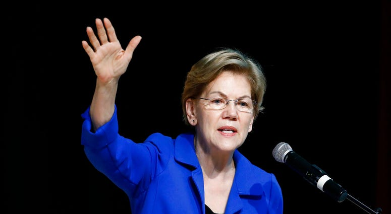 In this Feb. 26, 2020 file photo Democratic presidential candidate Sen. Elizabeth Warren, D-Mass., speaks at the National Action Network South Carolina Ministers' Breakfast in North Charleston, S.C. (AP Photo/Matt Rourke)