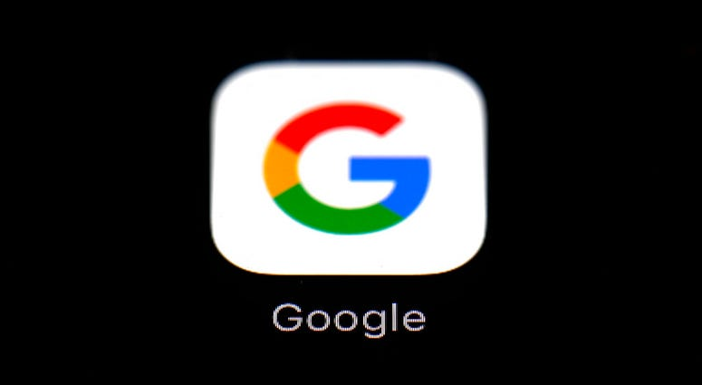 FILE - This March 19, 2018 file photo shows a Google app in Baltimore.