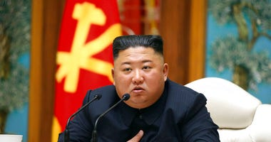 FILE - In this April 11, 2020, file photo provided by the North Korean government, North Korean leader Kim Jong Un attends a politburo meeting of the ruling Workers' Party of Korea in Pyongyang.  (Korean Central News Agency/Korea News Service via AP, File