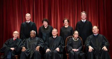 FILE - In this Nov. 30, 2018, file photo, the justices of the U.S. Supreme Court gather for a formal group portrait