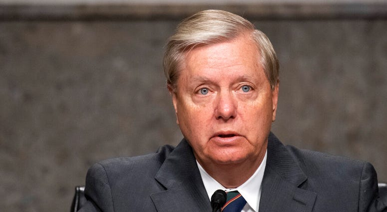 Chairman Lindsey Graham, R-S.C., speaks during a Senate Judiciary Committee confirmation hearing on the nomination of Judge Justin Walker to be a U.S. Circuit Court judge for the District of Columbia Circuit on Capitol Hill in Washington, Wednesday, May 6