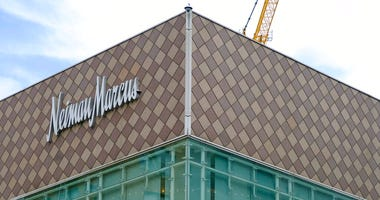 ILE - This Friday, April 17, 2020, file photo, shows the Neiman Marcus department store at Union Square in San Francisco.