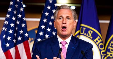 House Minority Leader Kevin McCarthy of Calif. speaks during a news conference on Capitol Hill, Thursday, May 7, 2020, in Washington.