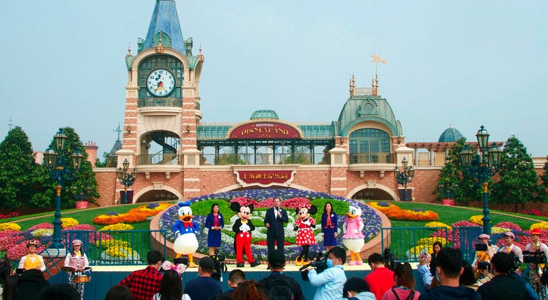 The ceremony for the reopening of the Disneyland theme park is held in Shanghai Monday, May 11, 2020.