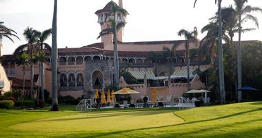 FILE - In this Nov. 24, 2017 file photo shows President Donald Trump's Mar-a-Lago resort in Palm Beach, Fla. President Trump's Mar-a-Lago club will partially reopen to members this weekend as South Florida slowly reopens from the coronavirus lock down.