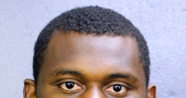 This booking photo provided by the Broward County, Fla., Sheriff's Office shows DeAndre Baker. The New York Giants cornerback surrendered to police Saturday, May 16, 2020, after being charged with robbing people of money and valuables at a cookout he was