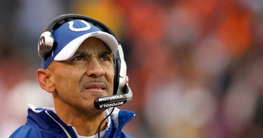 FILE - In this Nov. 30, 2008, file photo, Indianapolis Colts coach Tony Dungy watches from the sideline as his team plays the Cleveland Browns during the third quarter of an NFL football game.  (AP Photo/Amy Sancetta, File)