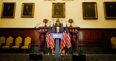 Democratic presidential candidate, former Vice President Joe Biden speaks in Philadelphia, Tuesday, June 2, 2020.