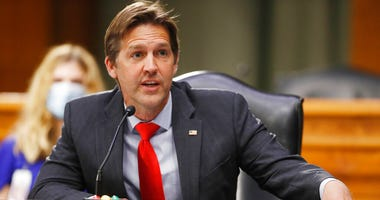 FILE - In this May 5, 2020, file photo Sen. Ben Sasse, R-Neb., speaks during a Senate Intelligence Committee nomination hearing in Washington.