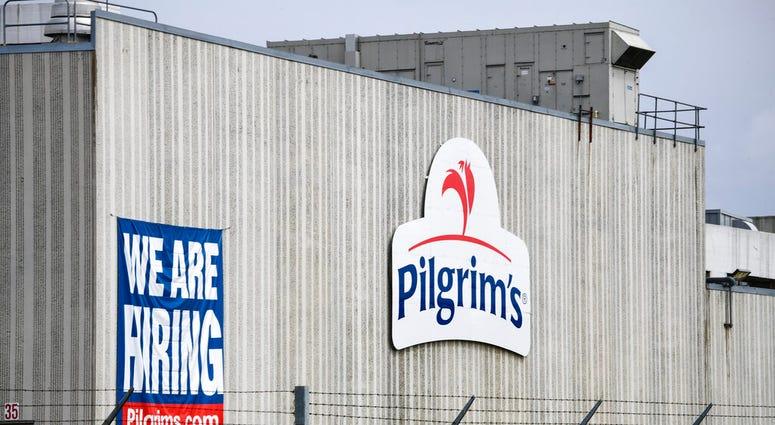 his April 28, 2020 file photo shows the Pilgrim's Pride plant in Cold Spring. Minn.