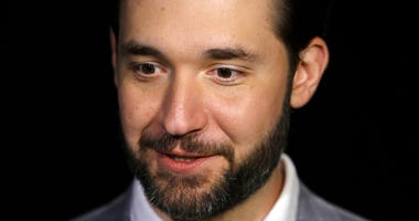 FILE - In this Feb. 19, 2019, file photo, Alexis Ohanian, founder of the social media company Reddit, gives an interview in New York.