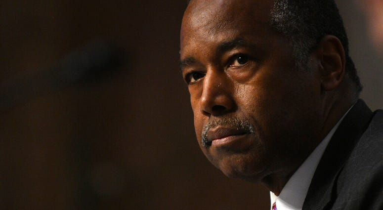 Housing and Urban Development Secretary Ben Carson testifies before a Senate Banking, Housing, and Urban Affairs Committee hearing on Capitol Hill in Washington, Tuesday, June 9, 2020.