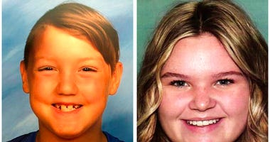 FILE - This combination of undated file photos released by the National Center for Missing & Exploited Children show missing children Joshua Vallow, left, and Tylee Ryan.