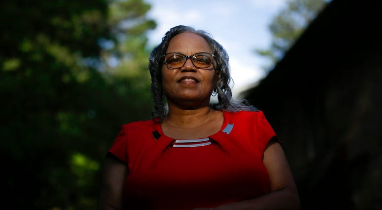 In this Monday, June 8, 2020, file photo, Dorothy Griffin, of Atlanta, poses for a portrait in Atlanta. Blind voters like Griffin fear a loss of control over their ability to cast a ballot as election officials a cross the U.S. plan a major expansion of v