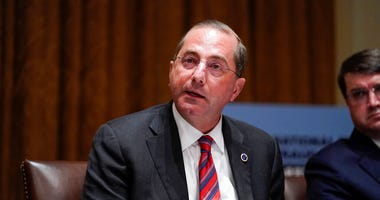 Health and Human Services Secretary Alex Azar speaks during a roundtable with President Donald Trump about America's seniors, in the Cabinet Room of the White House, Monday, June 15, 2020, in Washington.