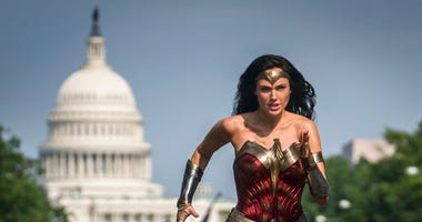 """This image released by Warner Bros. Pictures shows Gal Gadot as Wonder Woman in a scene from """"Wonder Woman 1984."""""""