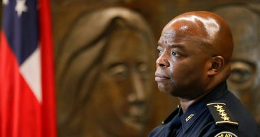 Interim Atlanta Police Chief Rodney Bryant speaks to the Associated Press on Thursday, June 18, 2020, in Atlanta.