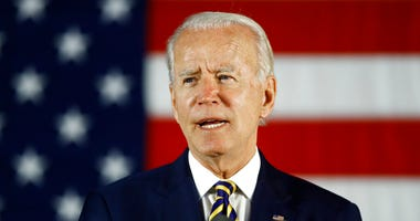 FILE - In this June 17, 2020, file photo, Democratic presidential candidate, former Vice President Joe Biden speaks in Darby, Pa.