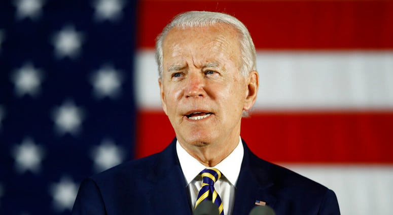 FILE - In this June 17, 2020, file photo, Democratic presidential candidate, former Vice President Joe Biden speaks in Darby, Pa.
