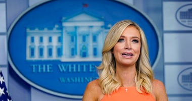 White House press secretary Kayleigh McEnany speaks during a press briefing at the White House, Monday, June 29, 2020, in Washington.