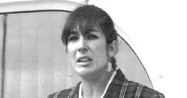 "FILE - In this Nov. 7, 1991, file photo Ghislaine Maxwell, daughter of late British publisher Robert Maxwell, reads a statement in Spanish in which she expressed her family's gratitude to the Spanish authorities, aboard the ""Lady Ghislaine"" in Santa Cruz"