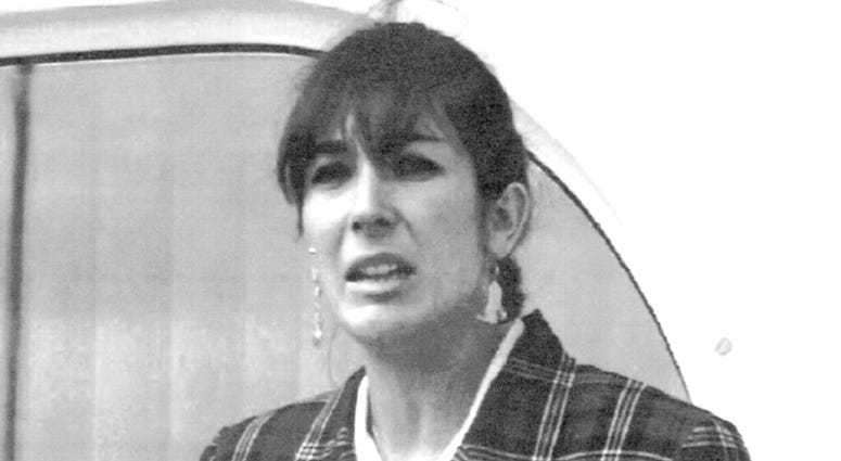 """FILE - In this Nov. 7, 1991, file photo Ghislaine Maxwell, daughter of late British publisher Robert Maxwell, reads a statement in Spanish in which she expressed her family's gratitude to the Spanish authorities, aboard the """"Lady Ghislaine"""" in Santa Cruz"""