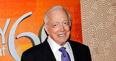 "FILE - This Jan. 12, 2012 file photo shows Hugh Downs at the ""Today"" show 60th anniversary celebration in New York."