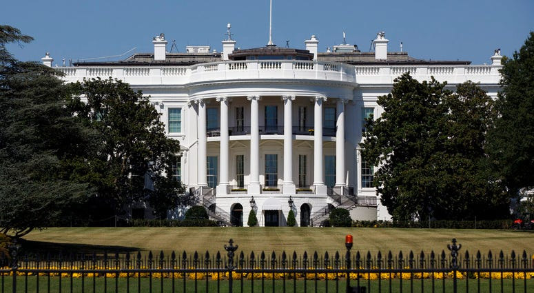 FILE - In this Sept. 25, 2019, file photo, The White House is seen from the Ellipse in Washington.  (AP Photo/Carolyn Kaster, File)