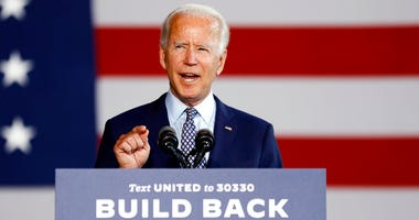 Democratic presidential candidate former Vice President Joe Biden speaks at McGregor Industries in Dunmore, Pa., Thursday, July 9, 2020.