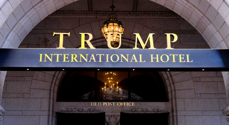 FILE - This March 11, 2019 file photo, shows the north entrance of the Trump International in Washington.