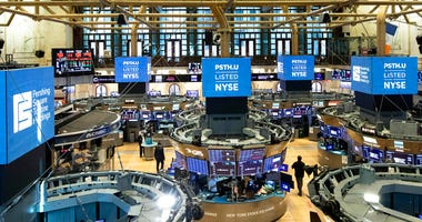 This July 22, 2020 photo provided by the New York Stock Exchange shows the trading floor in New York. (NYSE Photo by Colin Ziemer via AP)
