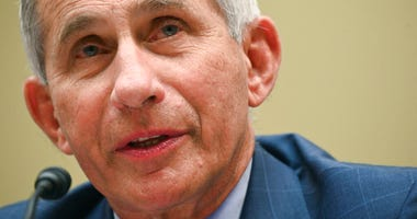 Dr. Anthony Fauci, director of the National Institute for Allergy and Infectious Diseases, testifies before a House Select Subcommittee hearing on the coronavirus on Capitol Hill in Washington. (Erin Scott/Pool via AP, File)