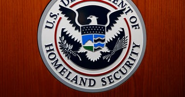 The Department of Homeland Security (DHS) seal is seen during a news conference in Washington. (AP Photo/Carolyn Kaster, File)