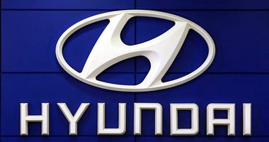 FILE - In this July 26, 2018 file photo, the logo of Hyundai Motor Co. is seen at its showroom in Seoul, South Korea.
