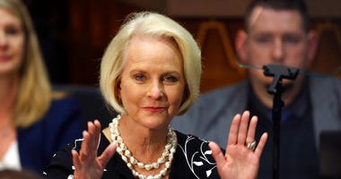 FILE - In this Jan. 13, 2020, file photo Cindy McCain, wife of former Arizona Sen. John McCain. (AP Photo/Ross D. Franklin, File)
