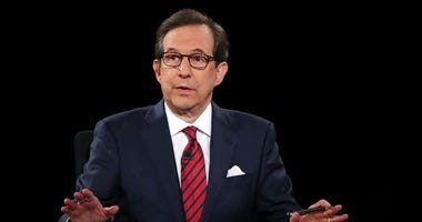 FILE - In this Oct. 19, 2016 file photo, moderator Chris Wallace guides the discussion during the presidential debate at UNLV in Las Vegas.  (Joe Raedle/Pool via AP, File)